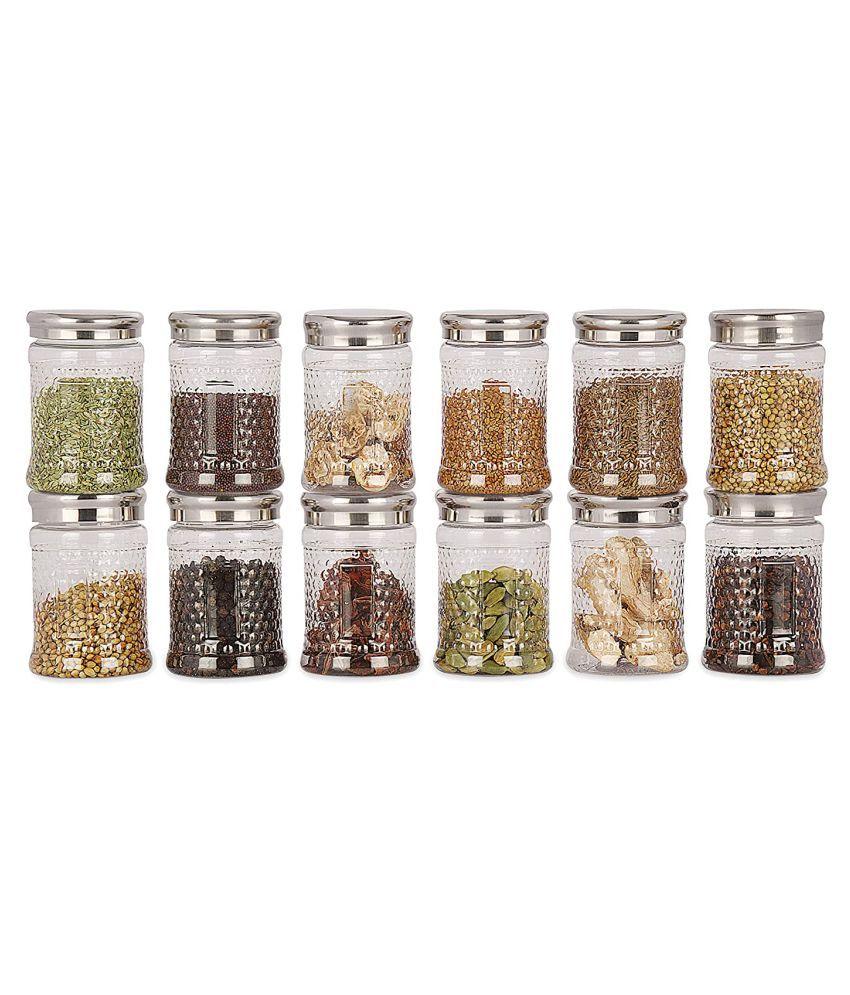Saura Crystal Storage Jar PET Food Container Set of 12 200 mL