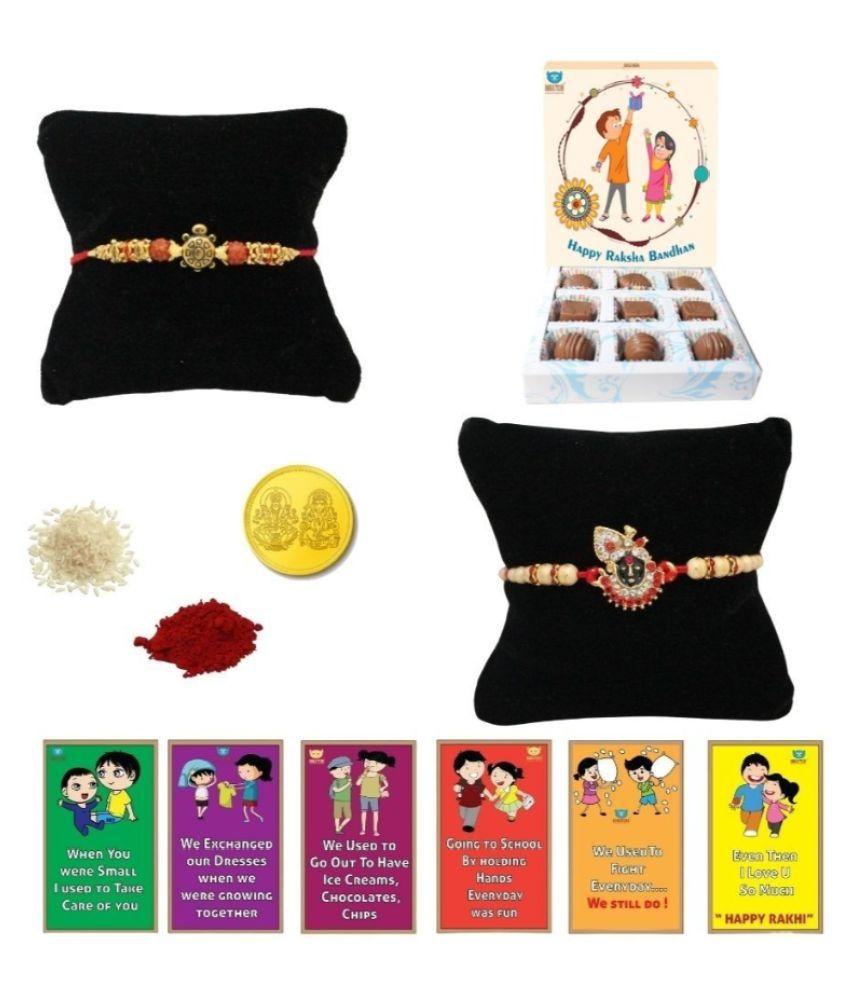 BOGATCHI Chocolate Box Rakhi Gift for Brother Rakhi Chocolate 200 gm