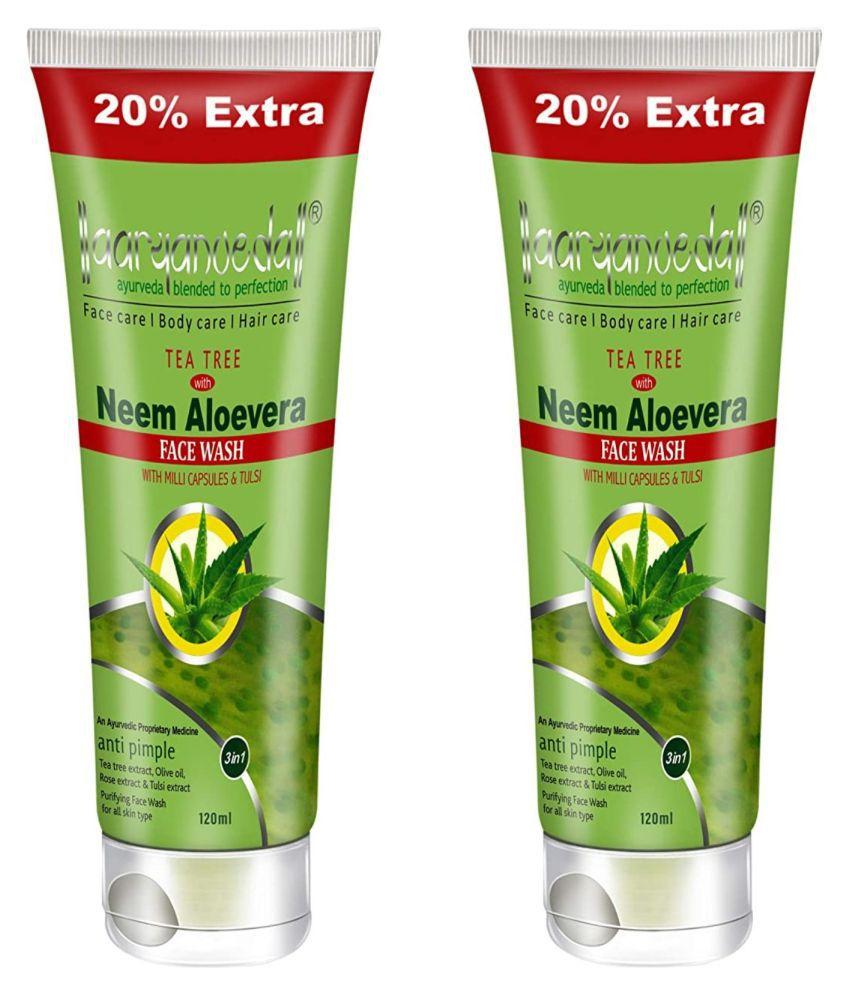 Aryanveda Herbals Tea Tree  Face Face Wash 120 mL Pack of 2