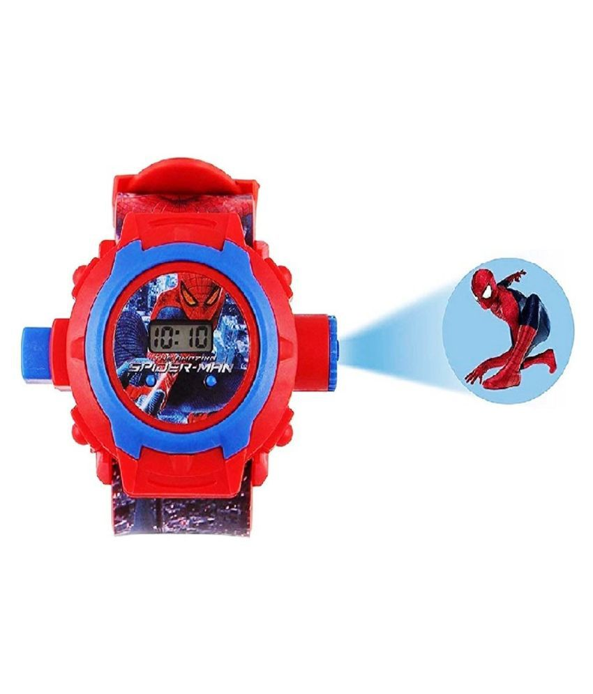 PIPER LONDON Digital 24 Images Spiderman Projector Watch Automatic Display Light spiderman projector Wrist Led Watch spider-man watch for kids boys girls christmas Gift Birthday returned gifts toy game