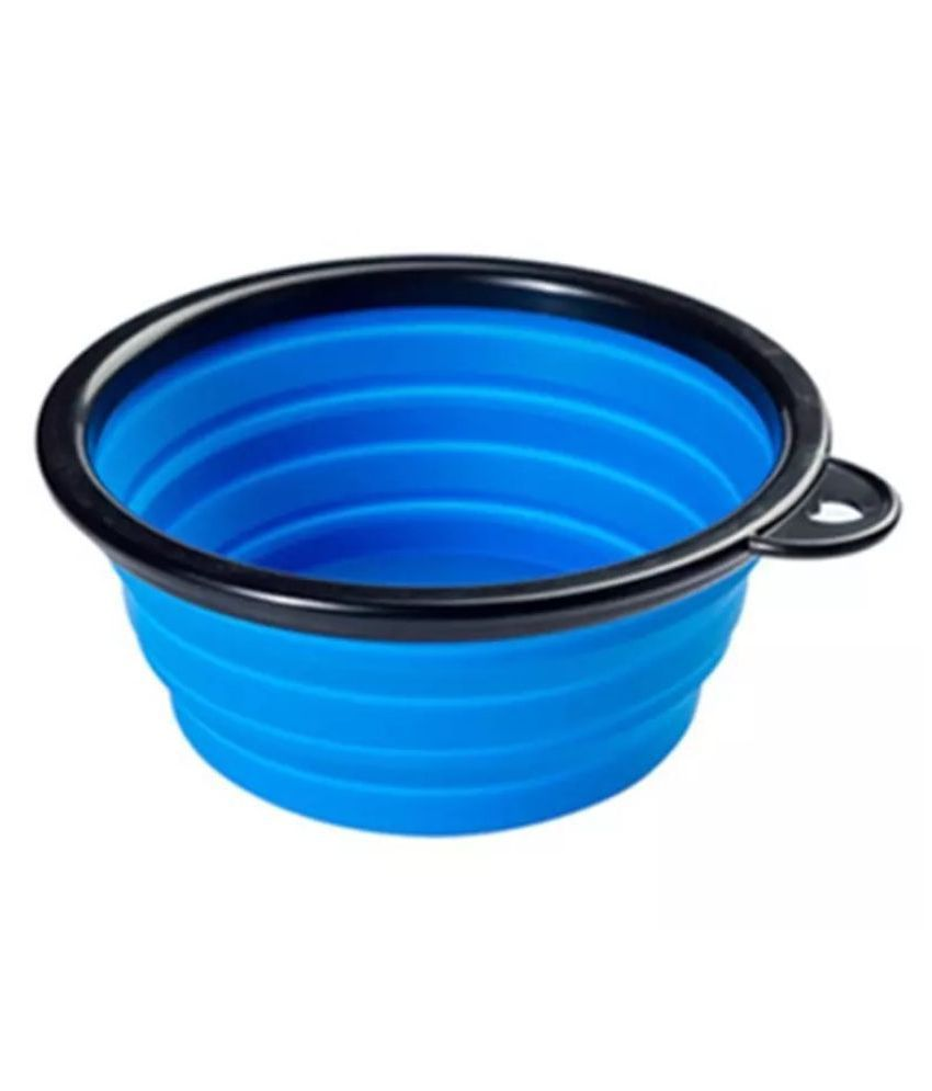 KUTKUT Travel Foldable Food Bowl or Water Bowl for Dogs and Cats…