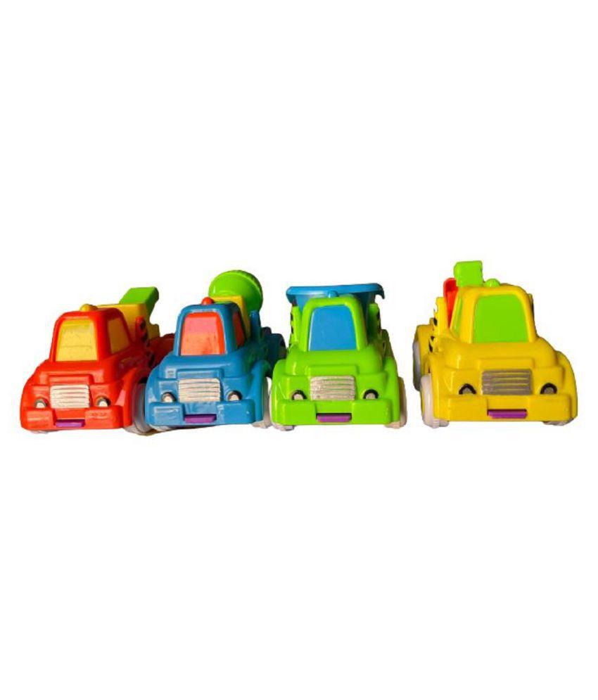 Toy Boutique Truck Set For Kids Set Of 4 (Multi Color)