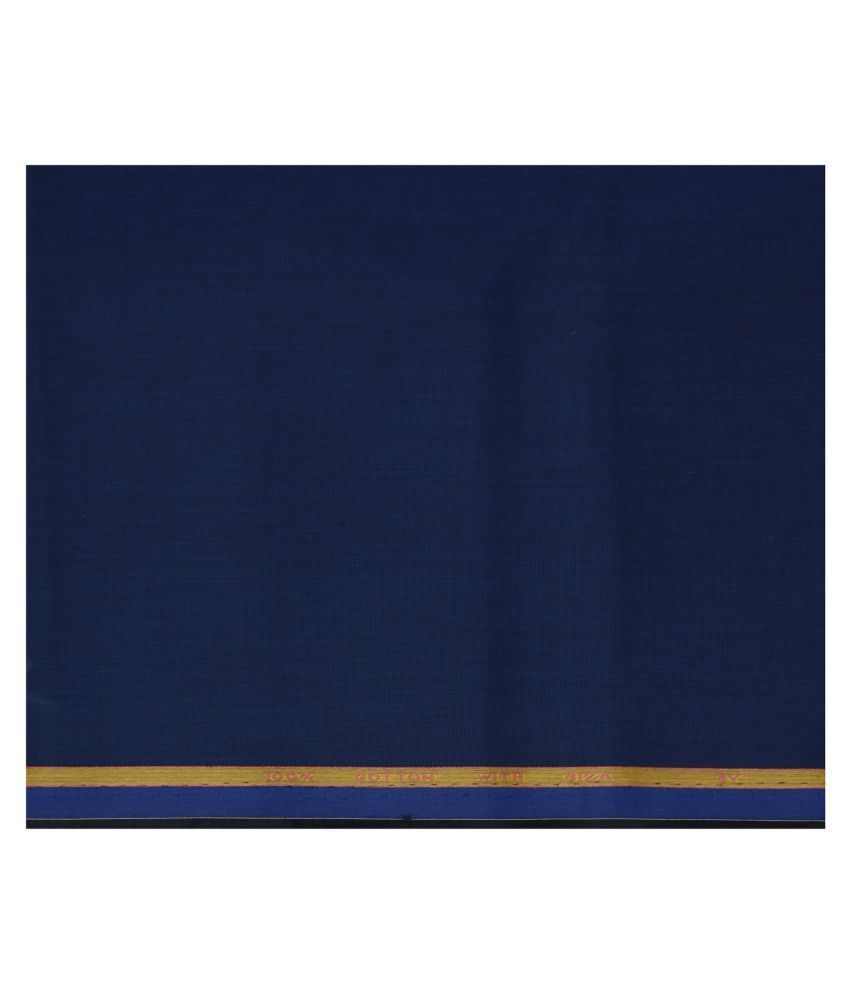 J Hampstead Blue 100 Percent Cotton Unstitched Shirt pc