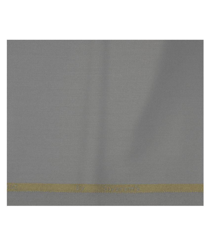 Siyaram's Grey Poly Blend Unstitched Pant Pc