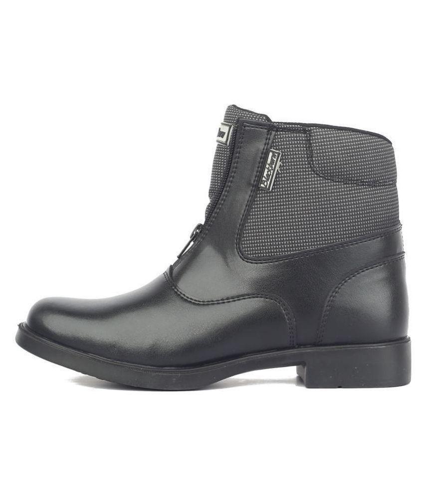 BlackBurn Black Ankle Length Casual Boots