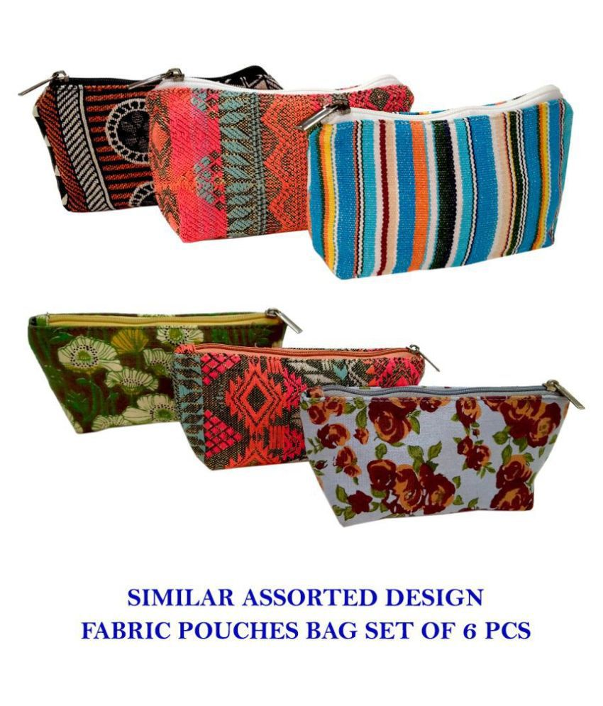 Hi Look Cosmetic Pouches Bag Fabric Multi Color Pouch