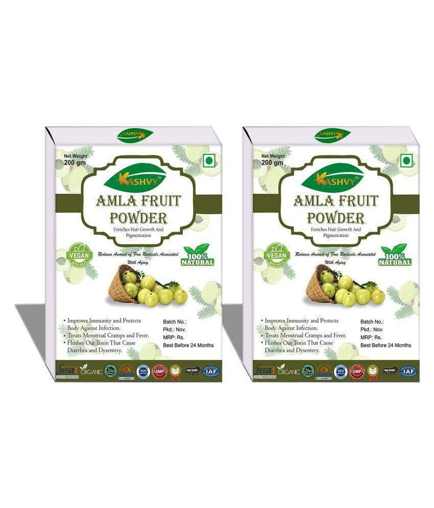 Kashvy Amla Fruit Powder 400 gm Pack Of 2