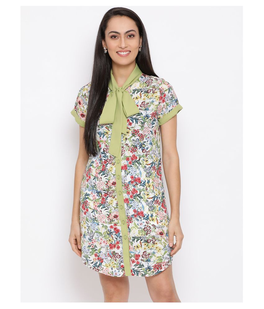 DRAAX Fashions Polyester Multi Color Fit And Flare Dress