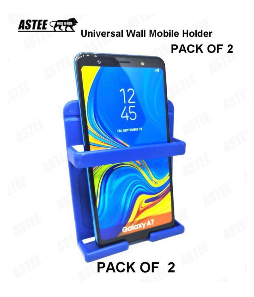ASTEE  PACK OF 2 Universal Wall Mobile Holder, Smartly Designed to fit almost all shapes and sizes of Mobile Phone TO Organize your Mobile Phone while charging