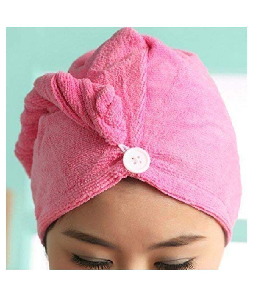 Hair Warp Towel Super Quick-Drying cotton Bath Towel Hair Dry Cap (pack of 4)