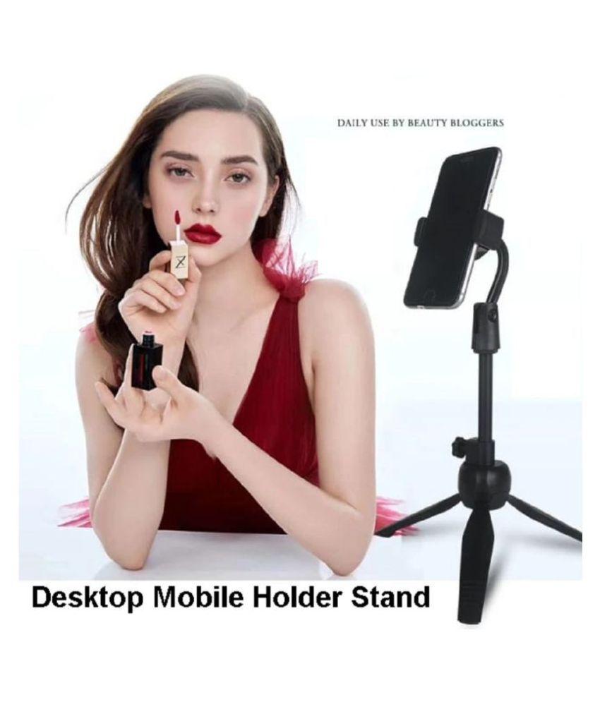 ASTEE Mobile Phone Holder Flexible Tri-pod Stand Universal Adjustable Metal Desktop Table Holder Stand For Professional Broadcasting