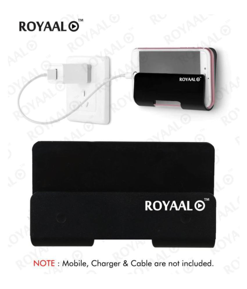 ROYAAL ™  Wall Mount Phone Holder with Adhesive Strips, Charging Holder Compatible with iPhone, Smartphone and Mini Tablet(Pack of 1)