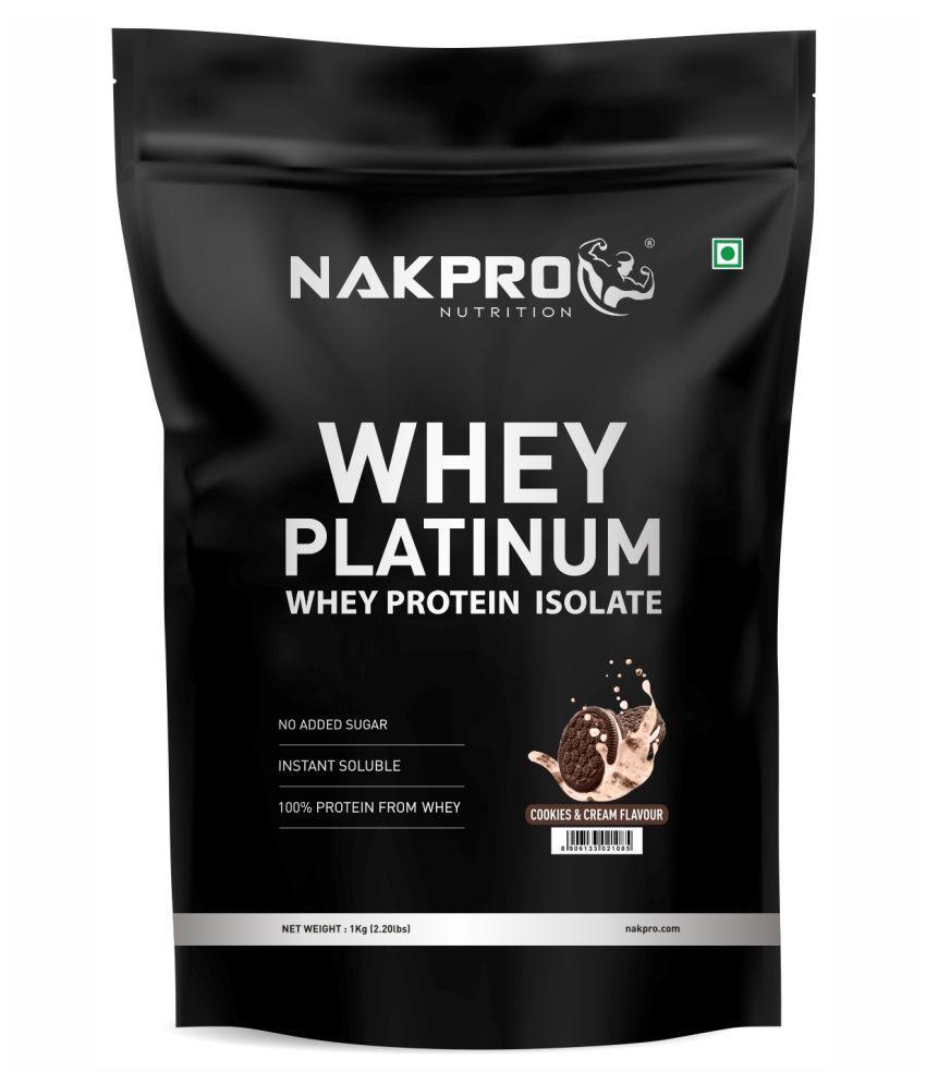 NAKPRO PLATINUM 100% Whey Protein Isolate 1 kg