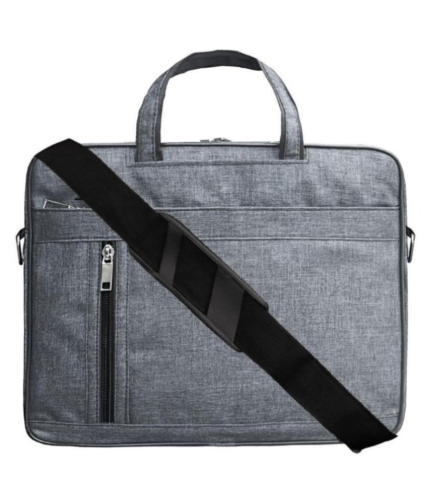 ABYS Grey Synthetic Office Bag