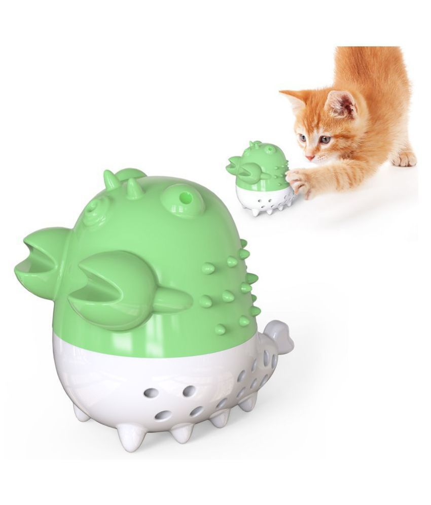 Emily Pets Cat Teeth Cleaning Chew Toy With Sound And Catnip Balls