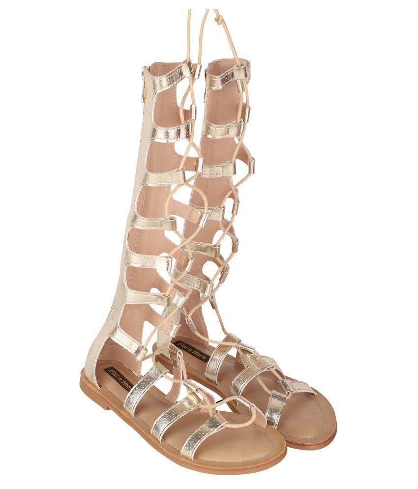 Flat N Heels Gold Flats