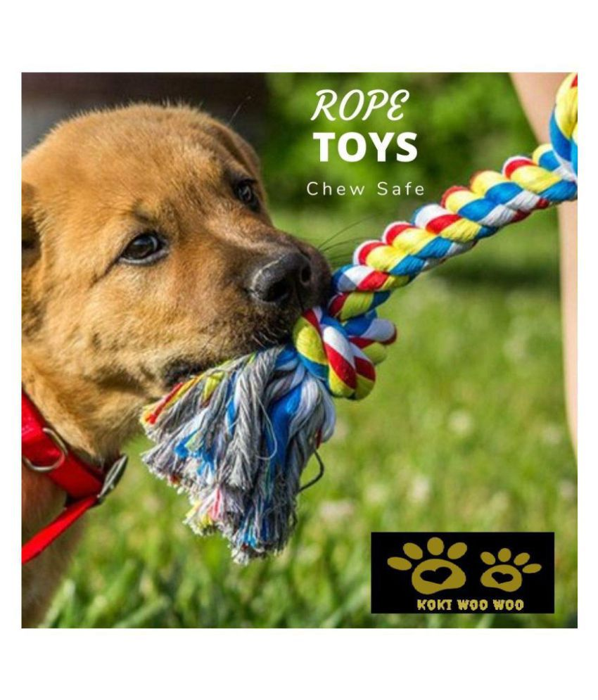 KOKIWOOWOO Cotton Rope Toy 6 Knot 30