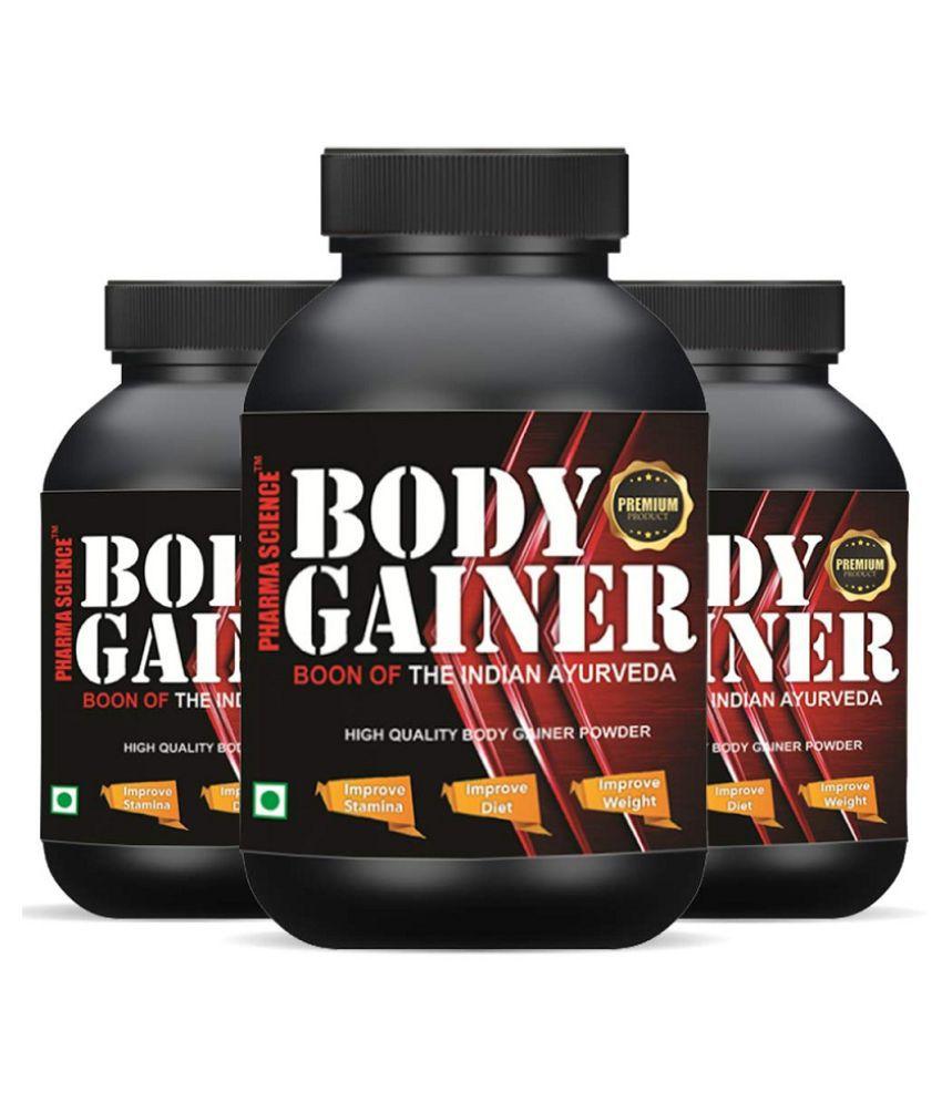 Pharma Science Ayurvedic Powder Weight Gainer Increase Powder 450 gm Pack of 3