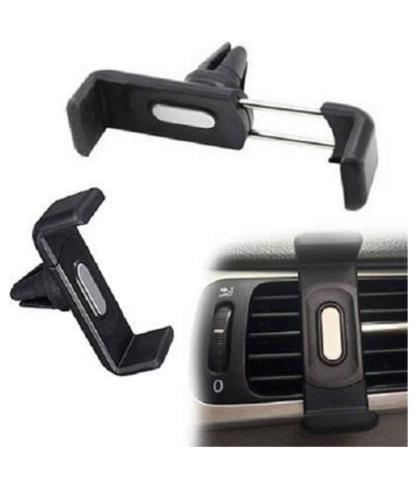 RAINAAZCOLLECTIONS Car Mobile Holder Vertical Clip for Air Vent   Black