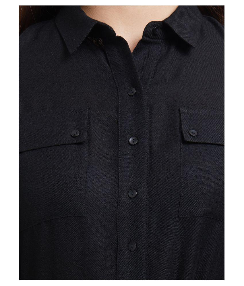 109 F Polyester Black Regular Dress - Single