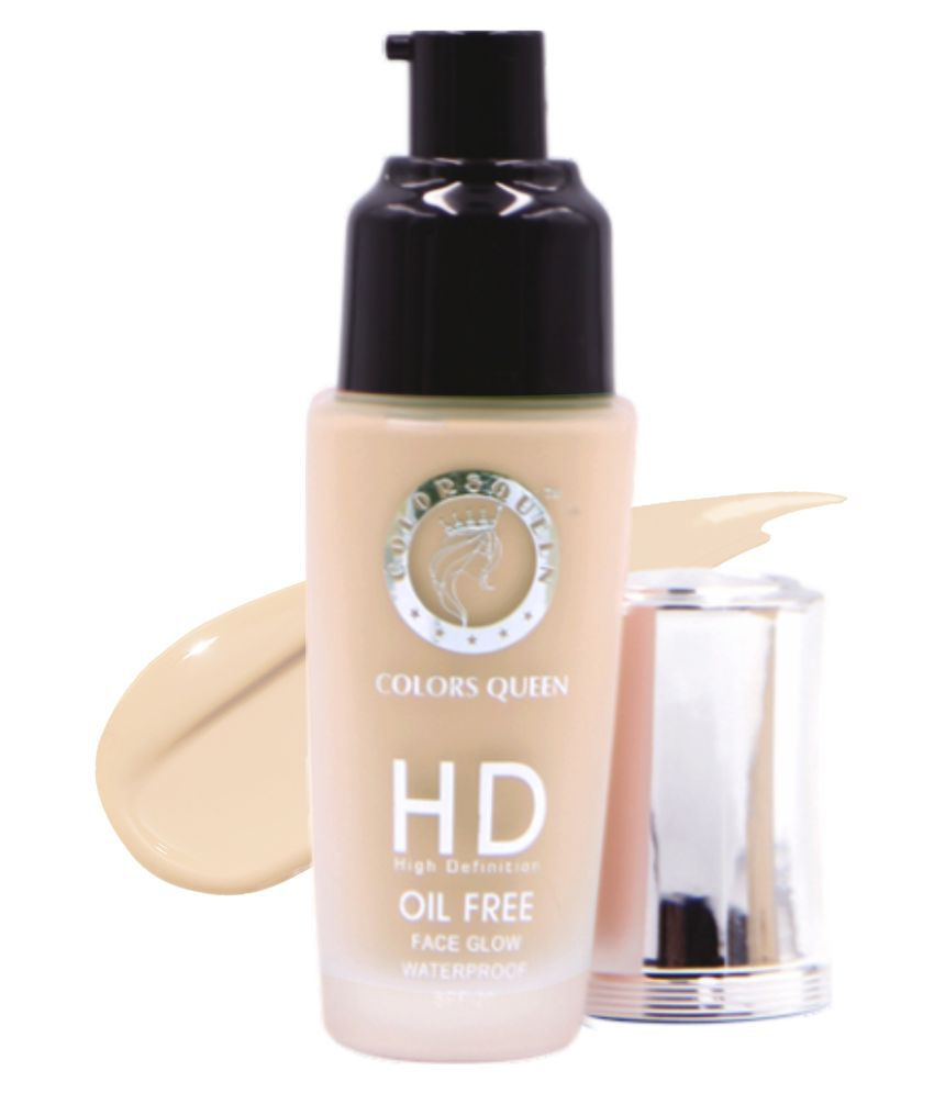Colors Queen HD High Definition Cream Foundation Oil Free water Proof Light Pack of 2 35 g