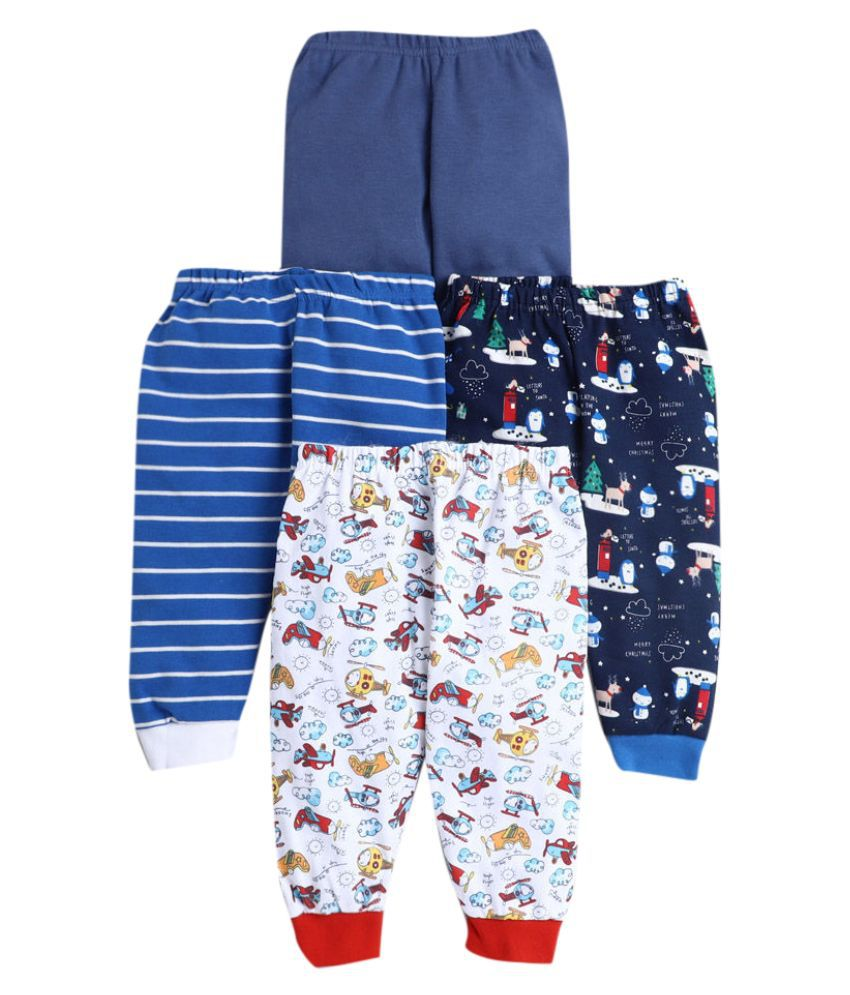Hopscotch Baby Boys Cotton Prints Joggers Pack Of 4 in Multi Color For Ages 18-24 Months (JJS-3676139)