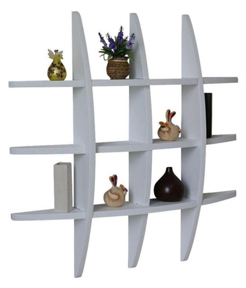 VEDO Globe Shape MDF Wall Shelves, NEW LOOK (White),