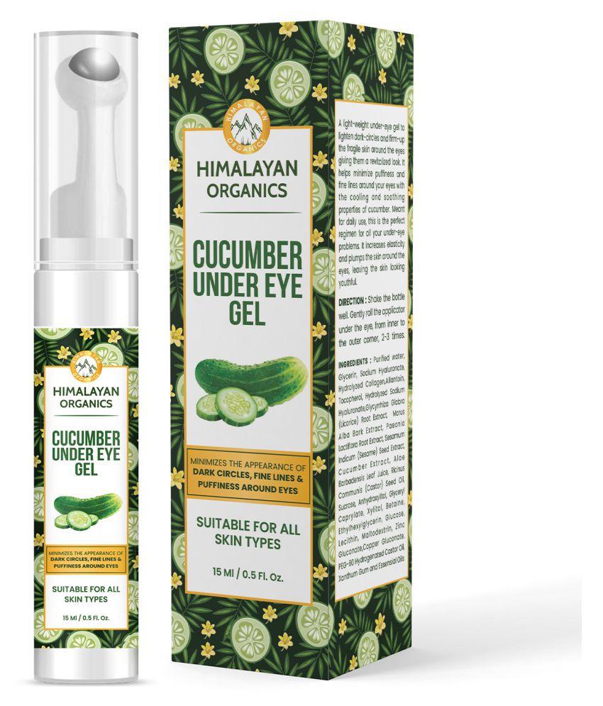 Himalayan Organics Cucumber Under Eye Gel with Massage Eye Roller 15 mL