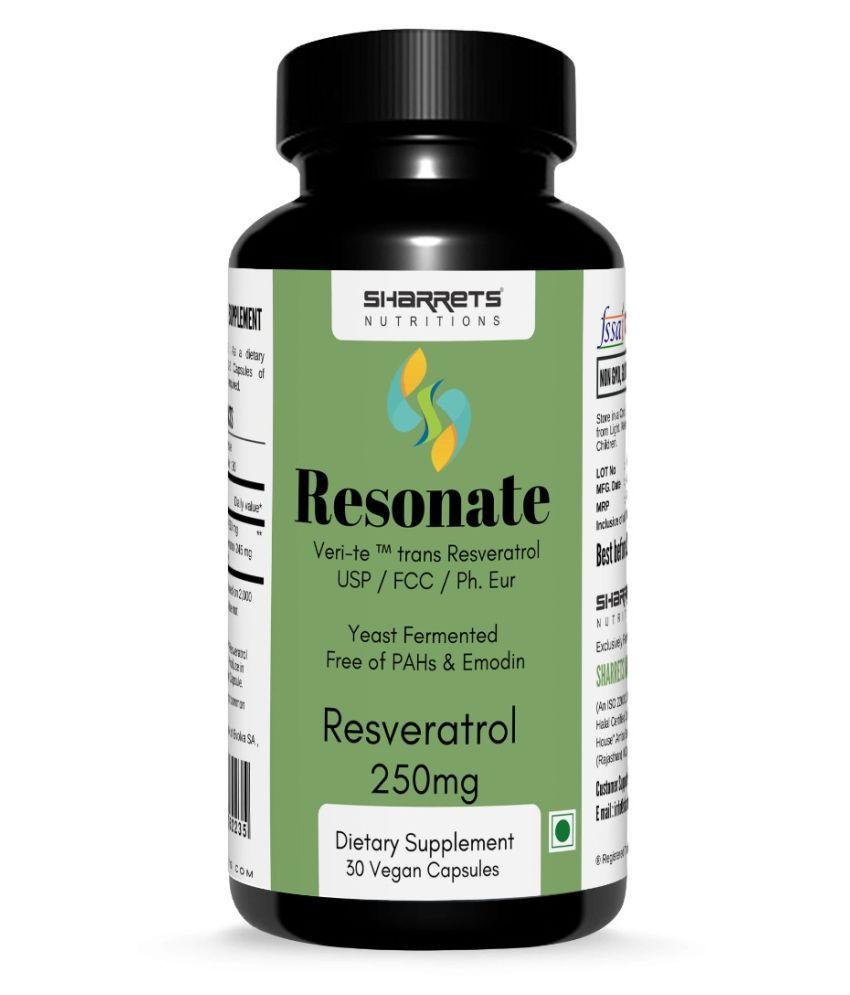 SHARRETS NUTRITIONS trans Resveratrol 250mg 30 no.s