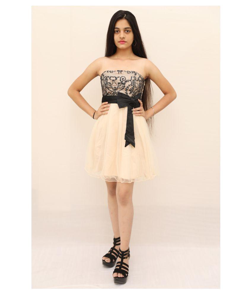 ARRICK FASHION Poly Silk White Bodycon Dress -