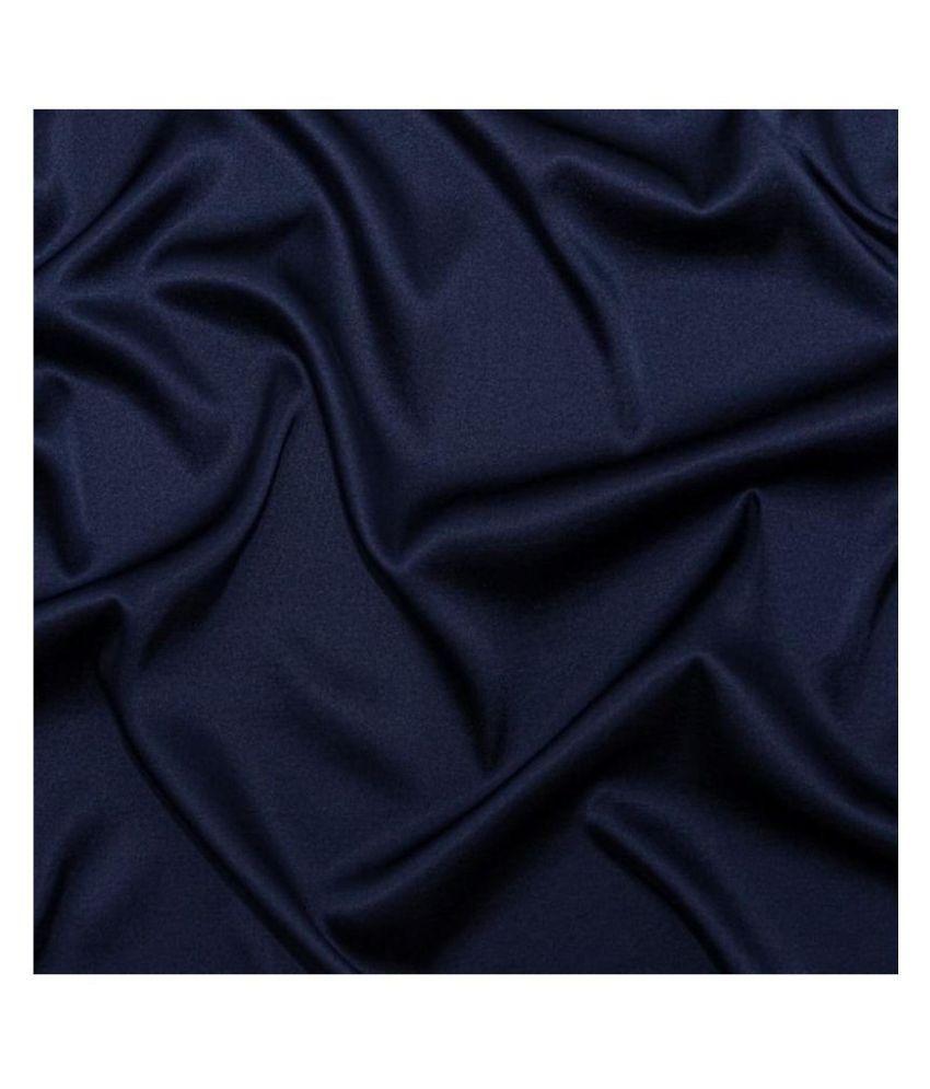 Makhanchor Navy 100 Percent Cotton Unstitched Shirt pc Single
