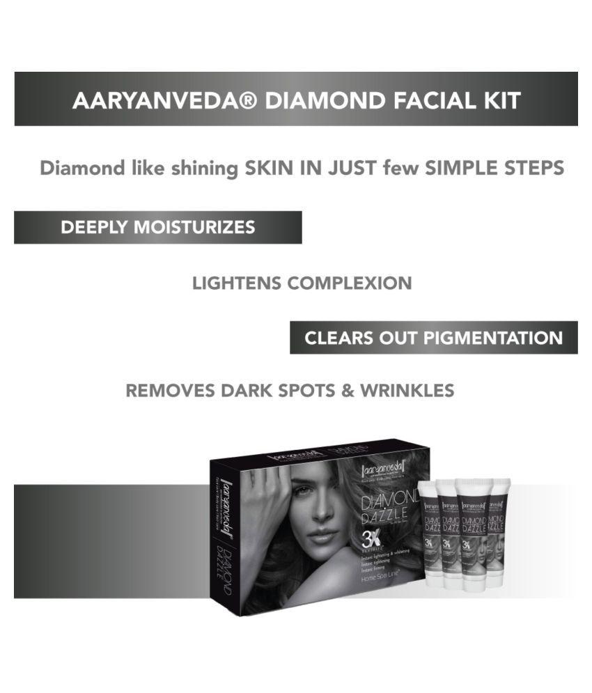 Aryanveda Unisex Diamond Kit for All Skin Type Facial Kit 55 g