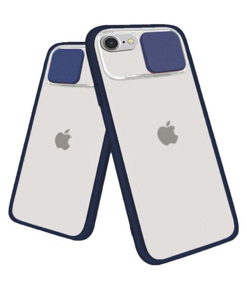 Apple iPhone 6 Plus Glass Cover Shining Stars   Blue Hybrid Shutter Back Cover