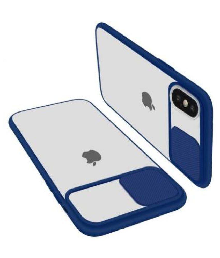 Apple iPhone X Glass Cover Shining Stars   Blue Hybrid Shutter Back Cover