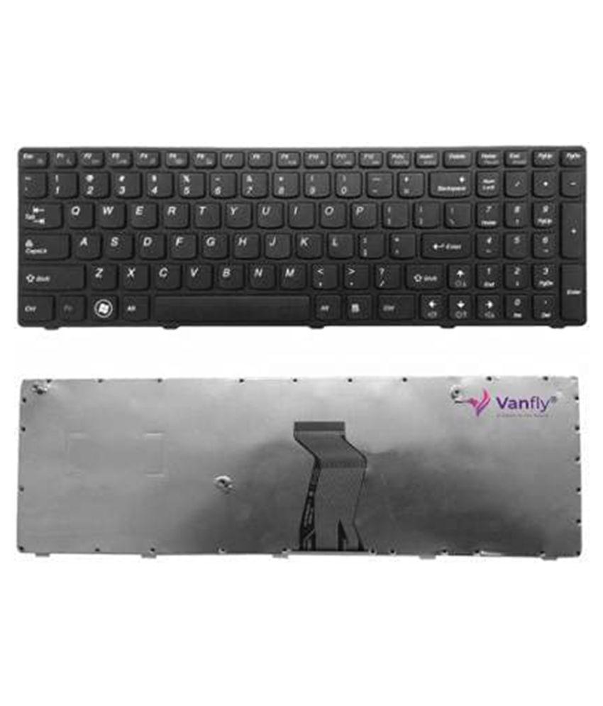 VANFLY Lenovo Ideapad G580 Black Inbuilt Replacement Laptop Keyboard