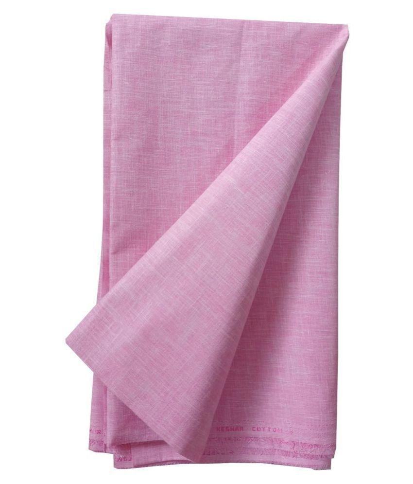 John Phillipe Pink Linen Blended Unstitched Shirt pc