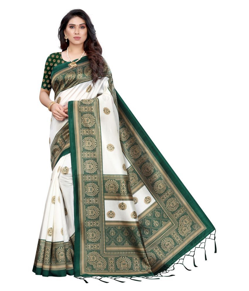 molvo Green Kanchipuram Saree -