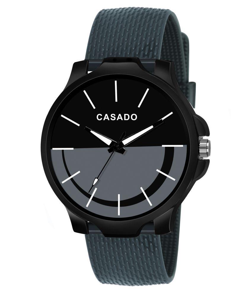 CASADO CSD 385 BLACK GREY Silicon Analog Men #039;s Watch