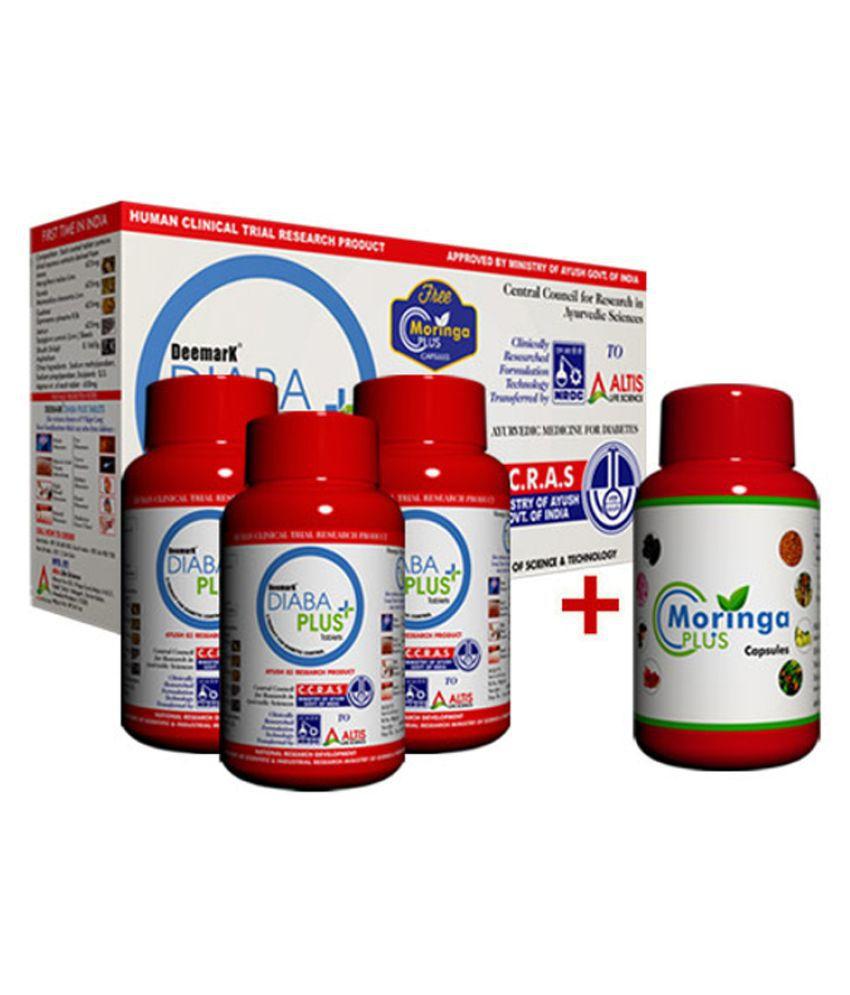 Deemark Diaba Plus 540 Tablets with Moringa for Sugar Control (540 Tab + 60 Moring Tablets)