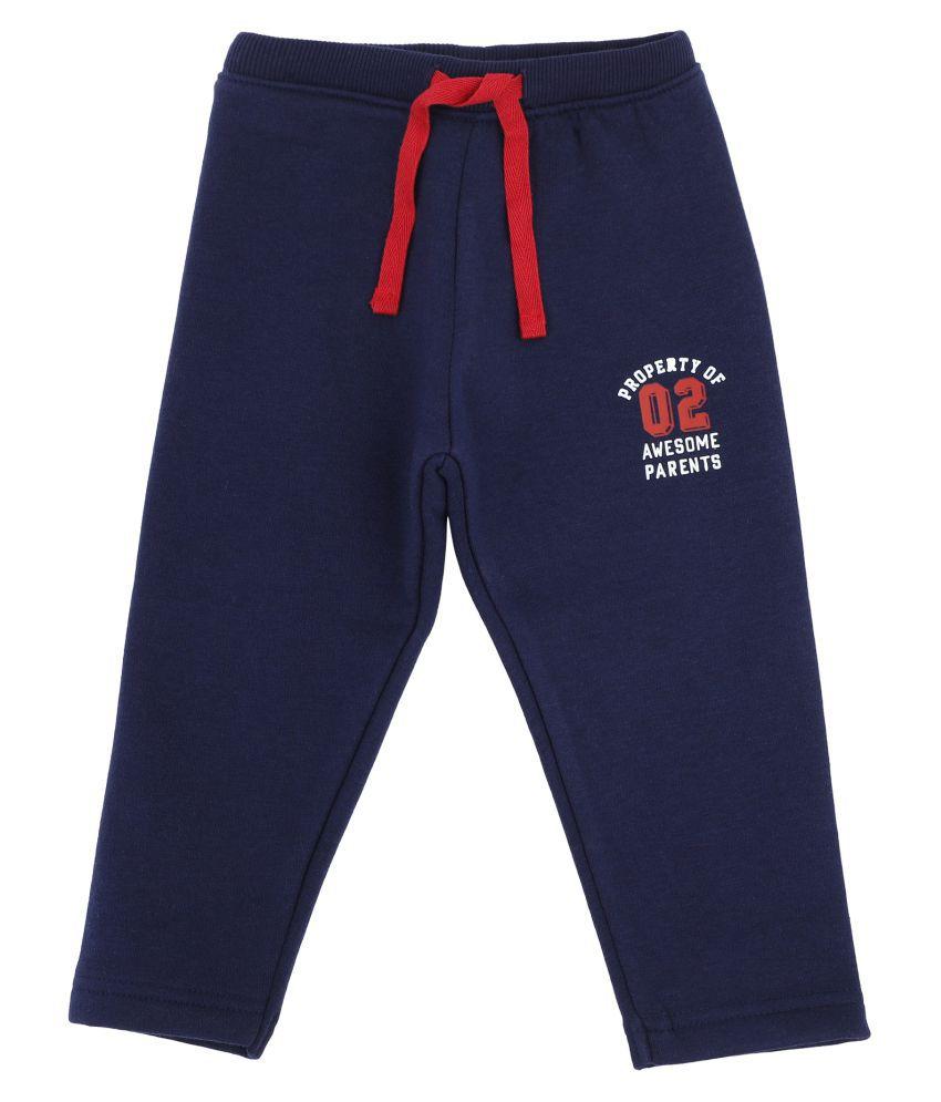 Bodycare Kids Infant Boys Navy Solid Track Pant