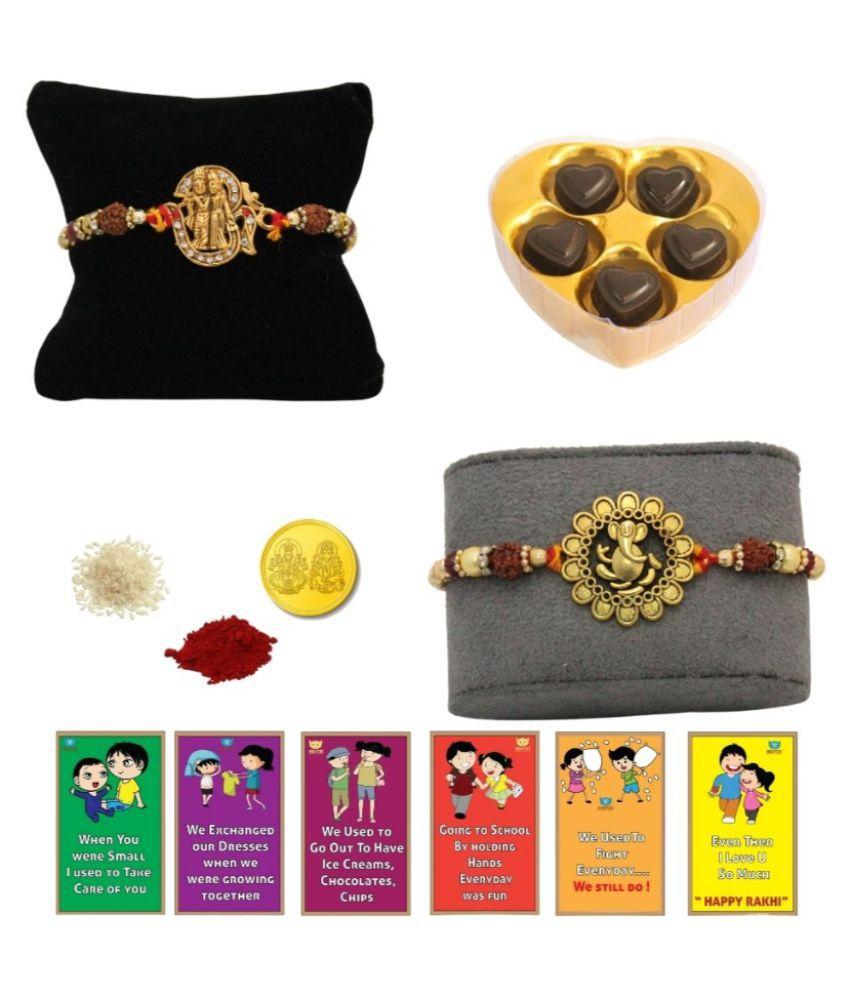 BOGATCHI Assorted Box Rakhi for Brother|Rakhi & Chocolates 200 gm