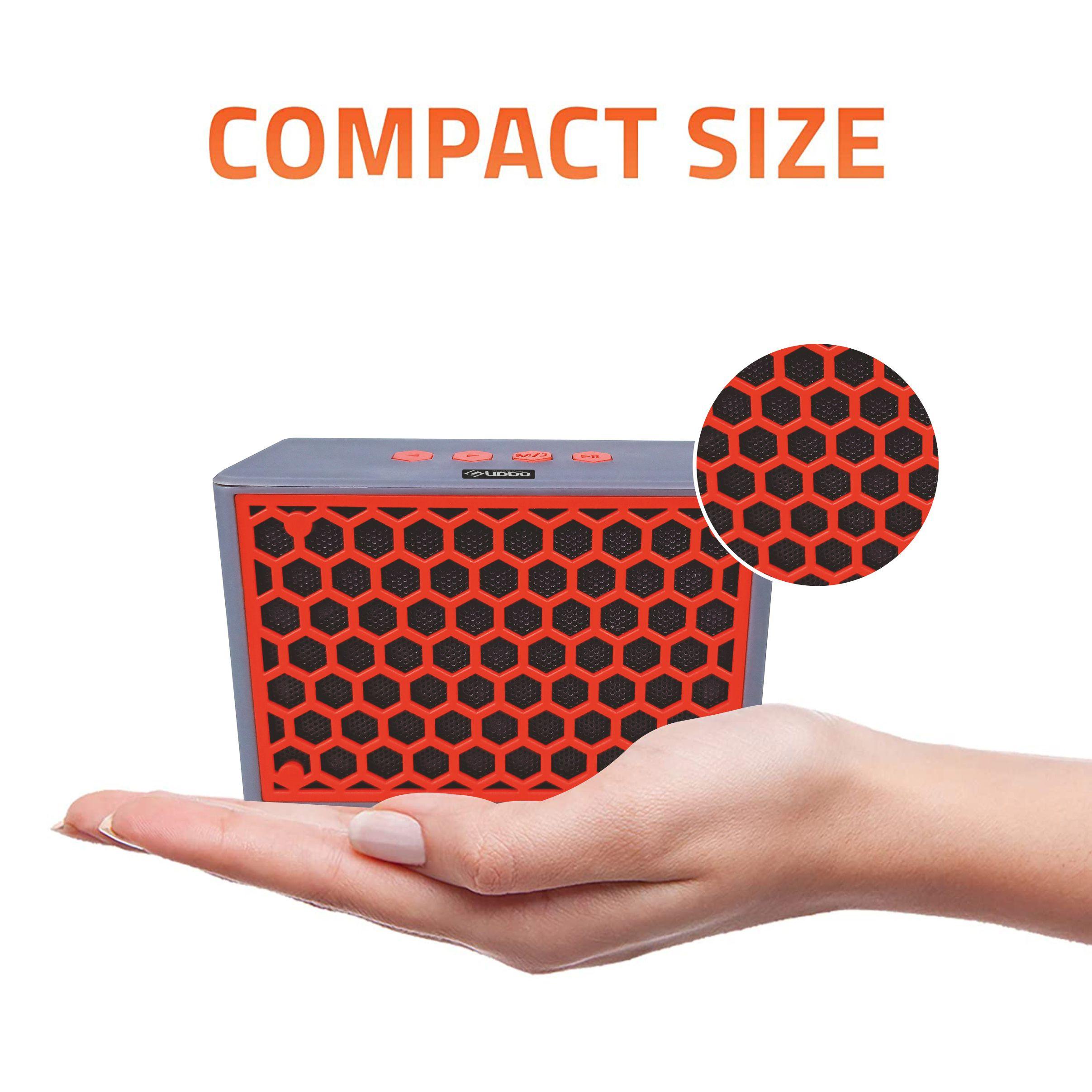 Pingaksh UDDO SP-2018 WIRELESS BLUETOOTH SPEAKER With USB Port for Pen drive /FM Radio/MicroSD Card Support/AUX cable support  Bluetooth Speaker