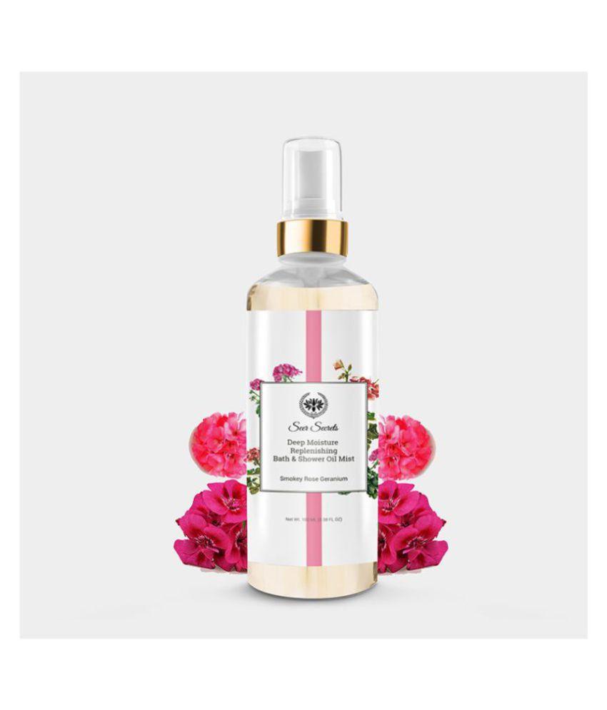 Seer Secrets Smoky Rose Geranium Deep Moisture Replenishing Bath & Shower Oil(100ML)