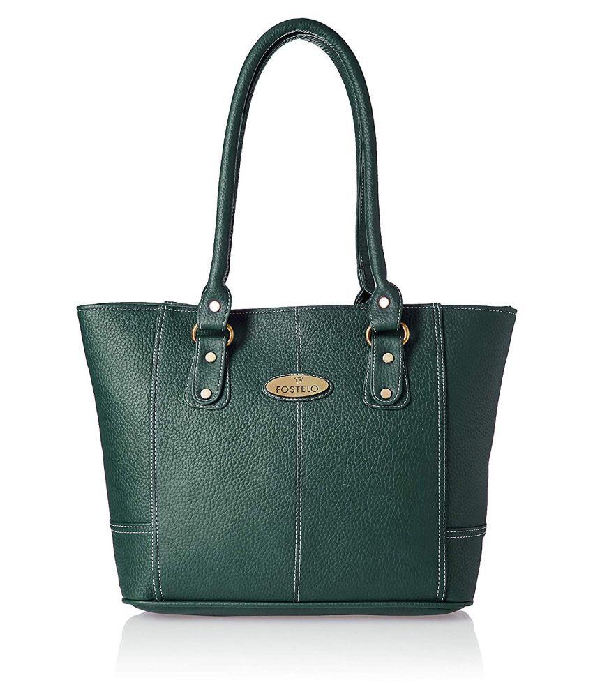 Fostelo Green P.U. Shoulder Bag