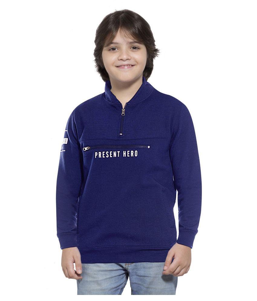 Maniac Printed Boys Fullsleeve Navy Cotton Jacket