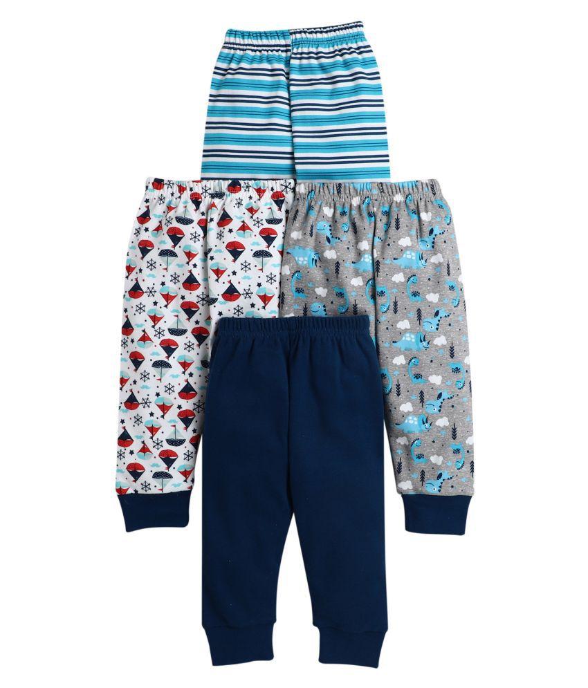 BUMZEE Navy.Grey Printed Pajamas For Baby Boys Pack Of 4