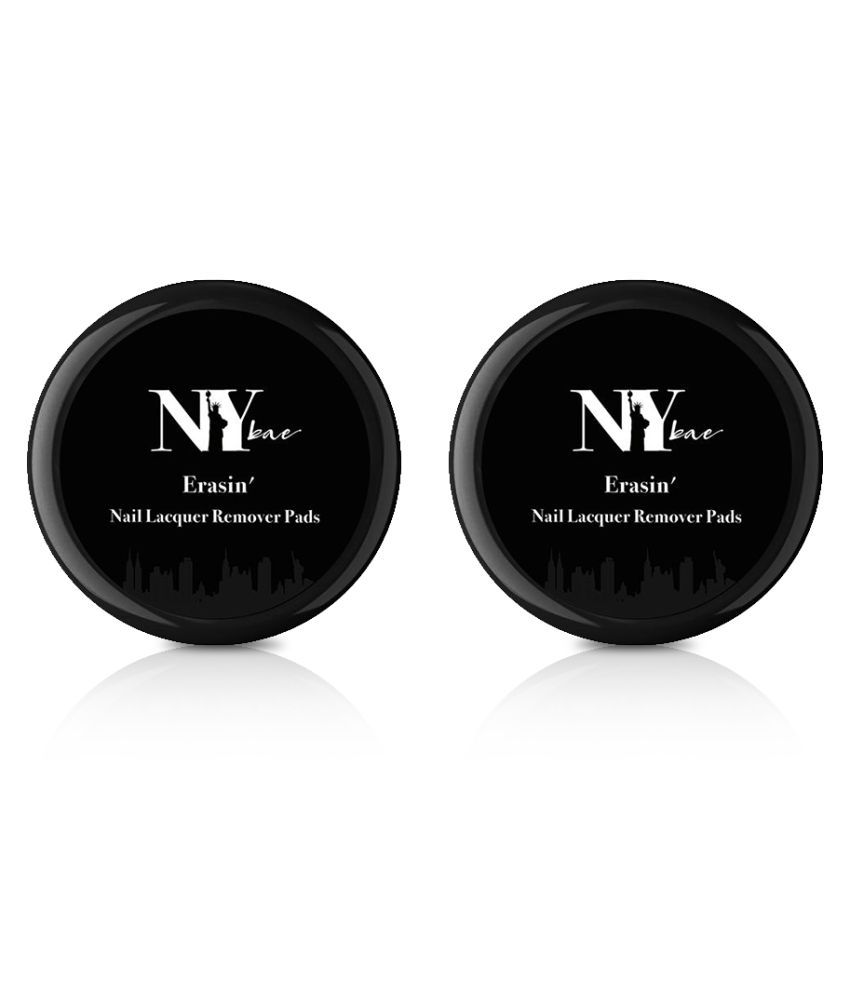 NY Bae Erasin' Nail Lacquer Remover Pads - 30 pads (43 g) - (Pack of 2)