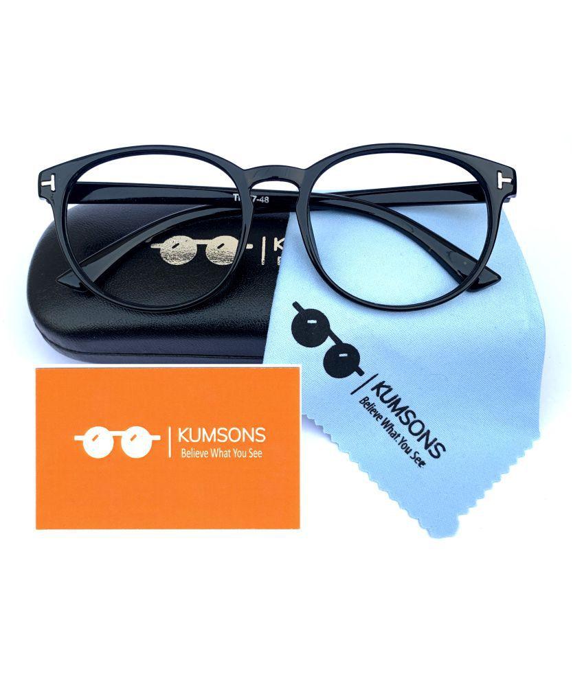 Unisex Blue Cut & Anti-glare Computer Glasses   For Computer Mobile TV   Eye Protection   Zero Power   Standard Size   Brand - Kumsons