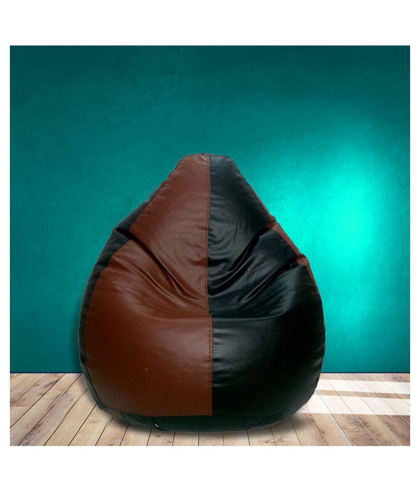 SHIRA 24 XXXL Teardrop Bean Bag Cover  Without Beans   Black Tan