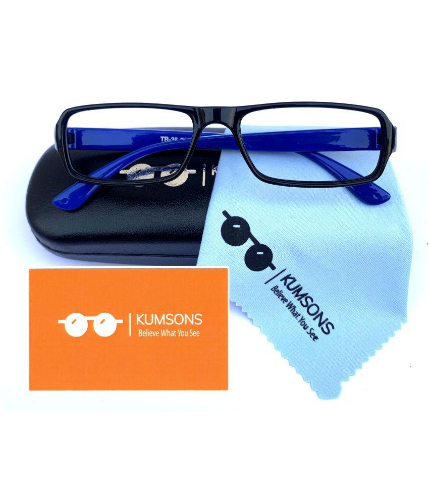 Kids Blue Cut & Anti-glare Computer Glasses | For Computer Mobile TV | Eye Protection | Zero Power | Brand - Kumsons